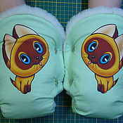 Муфта на коляску - Котёнок Гав - 24 цвета ткани на любую коляску.
