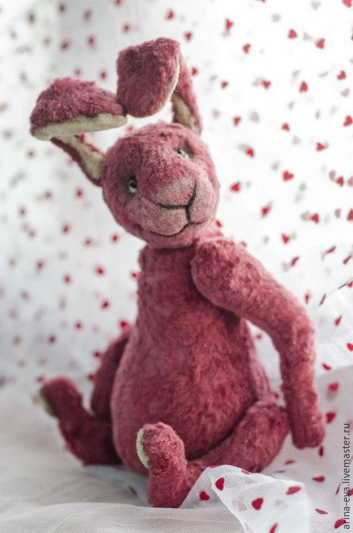 Мишки Тедди ручной работы. Ярмарка Мастеров - ручная работа. Купить Кроля. Handmade. Бордовый, кролик, плюш, опилки