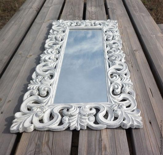 Зеркала ручной работы. Ярмарка Мастеров - ручная работа. Купить Зеркало в деревянной раме, стиль прованс. Z15.. Handmade.