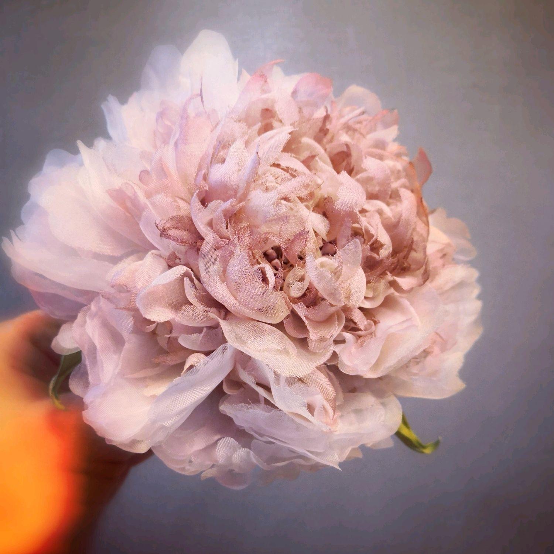 Брошь из японского шёлка, Цветы, Новосибирск,  Фото №1
