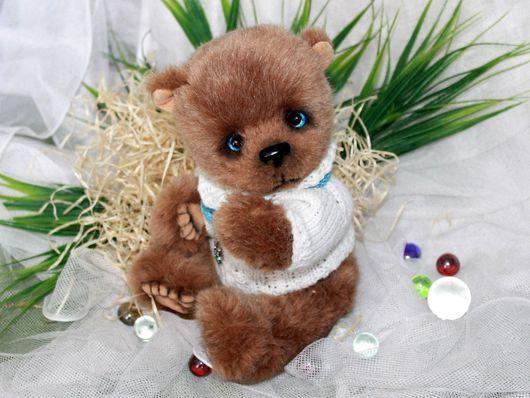 Мишки Тедди ручной работы. Ярмарка Мастеров - ручная работа. Купить Тедди медведь Арсений. Handmade. Коричневый, теддик, синтепух
