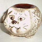 Для дома и интерьера ручной работы. Ярмарка Мастеров - ручная работа аромалампа-кот круглый. Handmade.