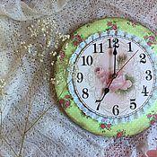 """Часы классические ручной работы. Ярмарка Мастеров - ручная работа Часы""""Шебби"""". Handmade."""