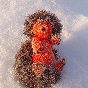 Куклы и игрушки ручной работы. Ярмарка Мастеров - ручная работа Ежик Апельсинкин в шоколаде )) вязаный ежик вязаная игрушка. Handmade.