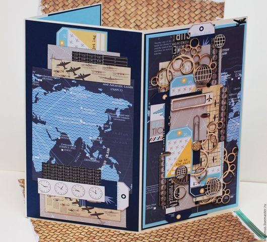 Открытки для мужчин, ручной работы. Ярмарка Мастеров - ручная работа. Купить БОЛЬШАЯ (51Х30 см) мужская открытка 31. Handmade.
