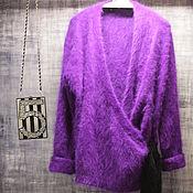 Одежда handmade. Livemaster - original item Cardigan in a kimono style purple color. Handmade.