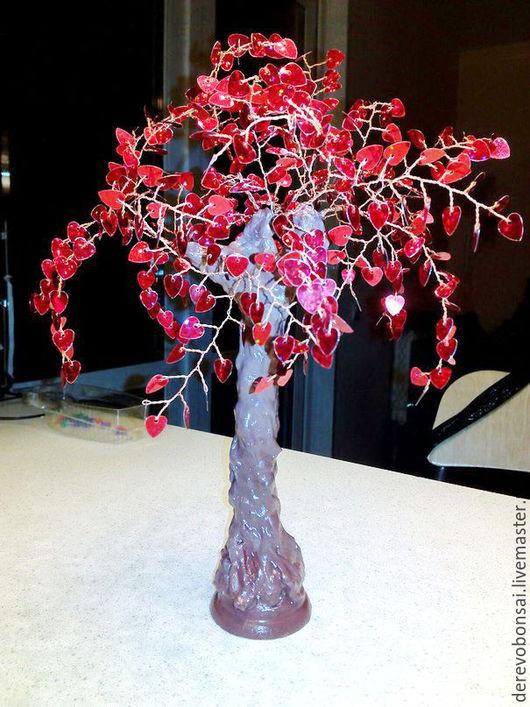 """Бонсай ручной работы. Ярмарка Мастеров - ручная работа. Купить Бонсай """"Дерево счастья"""". Handmade. Бонсай, пайетки, проволока медная"""