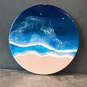 Картины ручной работы. Ярмарка Мастеров - ручная работа Картины: Море эпоксидной смолой 40 см. Handmade.