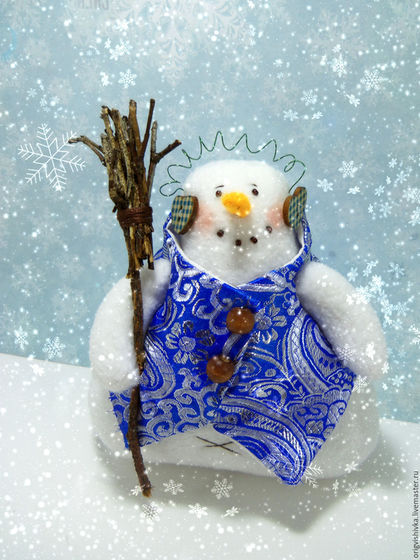 Новый год 2017 ручной работы. Ярмарка Мастеров - ручная работа. Купить Снеговик тильда. Handmade. Белый, подарок на новый год, рождество