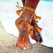 Украшения ручной работы. Ярмарка Мастеров - ручная работа Украшения для ножек, браслет на ногу, пляжная мода. Handmade.