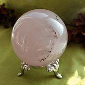 Материалы для творчества handmade. Livemaster - original item Ball of rose quartz with dendrite. Handmade.