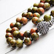 Фен-шуй и эзотерика handmade. Livemaster - original item Rosary Meditation the vital energy of unakite. Handmade.