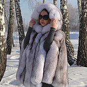 Одежда handmade. Livemaster - original item Poncho. Cape. Fur volevogo Fox. Hooded.. Handmade.