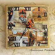 Для дома и интерьера ручной работы. Ярмарка Мастеров - ручная работа часы настенные Венеция. Handmade.