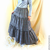 Одежда handmade. Livemaster - original item Long skirt tiered