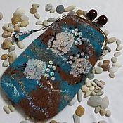 Сумки и аксессуары ручной работы. Ярмарка Мастеров - ручная работа футляр для очков Шоколадно-бирюзовое настроение. Handmade.