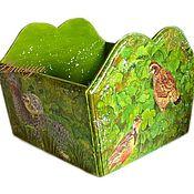 """Для дома и интерьера ручной работы. Ярмарка Мастеров - ручная работа Короб для кухни """"такой с птичками"""" короб для лука для специй. Handmade."""
