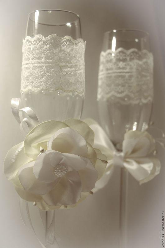 Подарки на свадьбу ручной работы. Ярмарка Мастеров - ручная работа. Купить Свадебные бокалы и аксессуары. Handmade. Комбинированный, джутовый шпагат