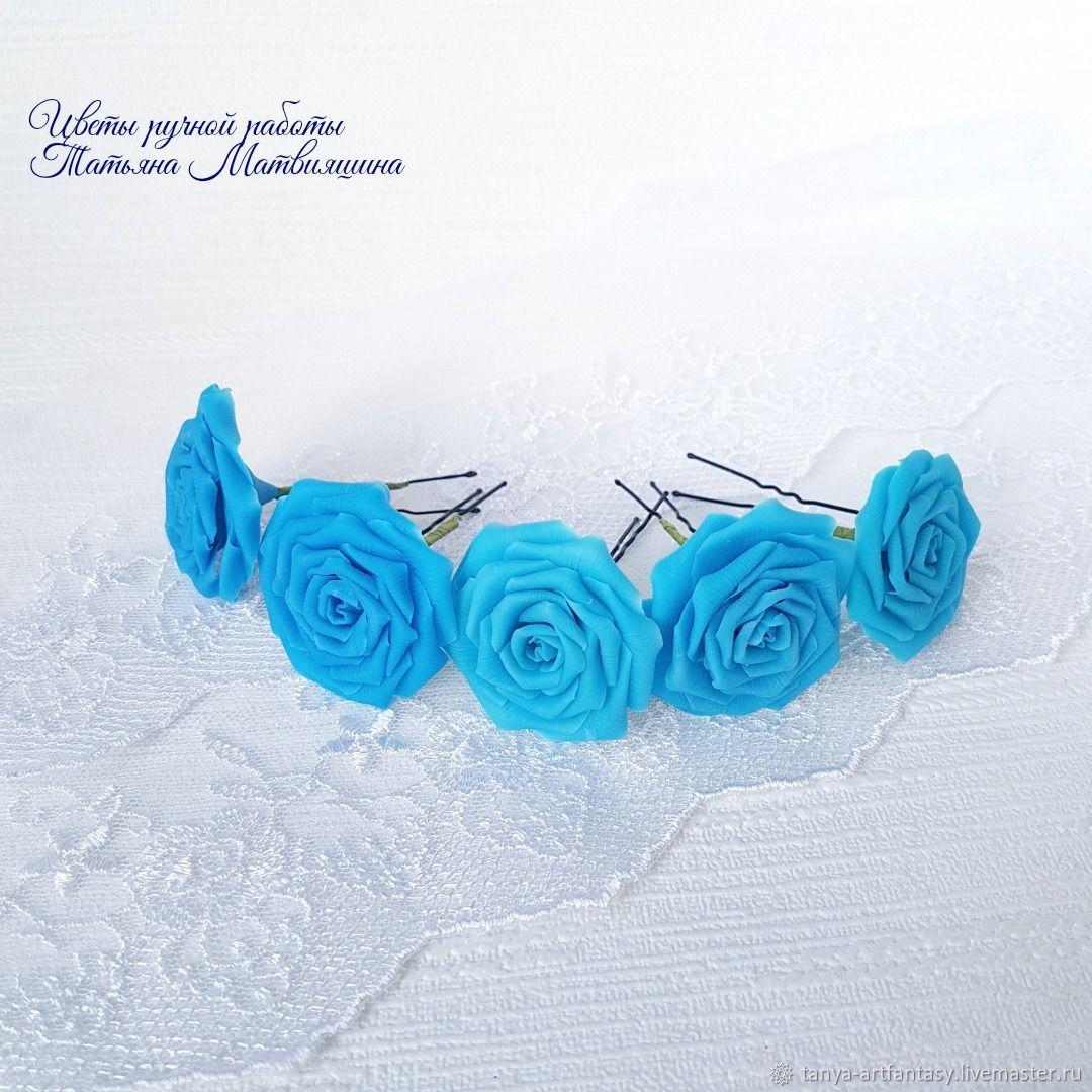 Pin Rose. Studs rose. studs flowers. Studs wedding, Hairpin, Vladivostok,  Фото №1