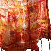 Аксессуары handmade. Livemaster - original item Raspisanie felted on silk - stole