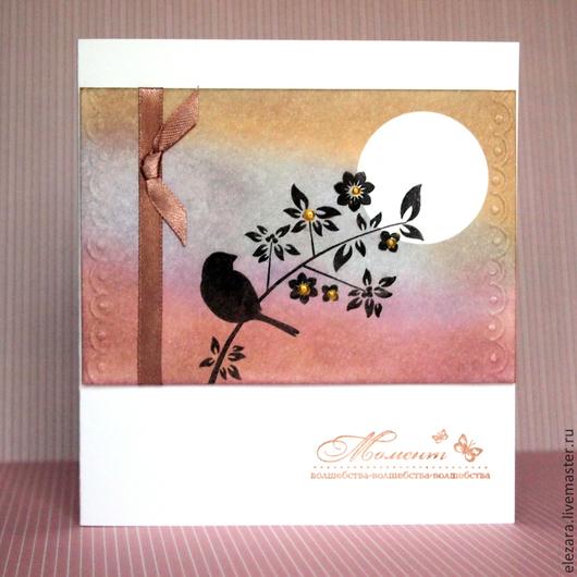"""Открытки на все случаи жизни ручной работы. Ярмарка Мастеров - ручная работа. Купить """"Радость"""" - открытка ручной работы. Handmade."""