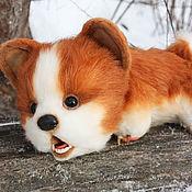 Куклы и игрушки handmade. Livemaster - original item Corgi puppy. Cute dog Teddy. Soft toy Corgi. Handmade.