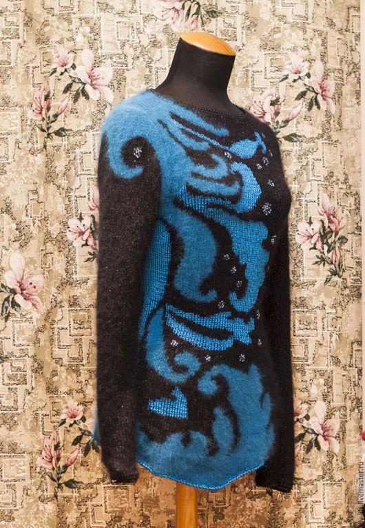 """Кофты и свитера ручной работы. Ярмарка Мастеров - ручная работа. Купить Джемпер """" Сказки Синих Морей"""". Handmade. Комбинированный"""