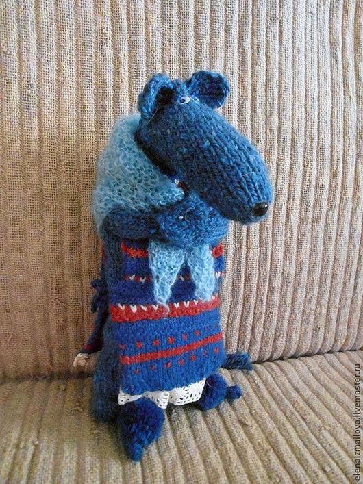 Игрушки животные, ручной работы. Ярмарка Мастеров - ручная работа. Купить Синяя крыса из старого сундука. Handmade. Синий