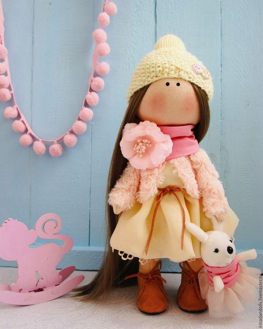 Куклы тыквоголовки ручной работы. Ярмарка Мастеров - ручная работа. Купить Девочка-сливочный персик. Handmade. Ручная работа, бежевый