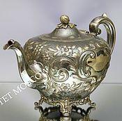 Винтаж ручной работы. Ярмарка Мастеров - ручная работа Антикварный чайник кофейник серебрение клеймо 37. Handmade.