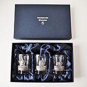 Сувениры и подарки handmade. Livemaster - original item A set of faceted stacks NOSTALGIA on three in box. Handmade.