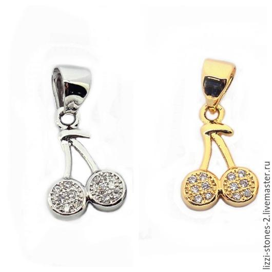 Подвеска вишенки золото и серебро (Milano) Евгения (Lizzi-stones-2)