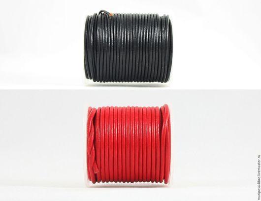 Для украшений ручной работы. Ярмарка Мастеров - ручная работа. Купить Шнур круглый 2мм, черный и красный. Handmade.