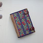 Блокноты ручной работы. Ярмарка Мастеров - ручная работа Блокнот софтбук А6 Цветочный замш. Handmade.