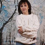 Одежда handmade. Livemaster - original item Knitted jumper with leaves. Handmade.
