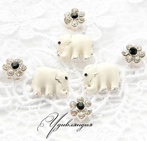 Для украшений ручной работы. Ярмарка Мастеров - ручная работа. Купить Коннектор с кристаллами «Индийский слон». Handmade. Коннекторы, для браслета