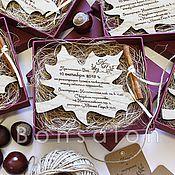 Свадебный салон ручной работы. Ярмарка Мастеров - ручная работа Осеннее приглашение ПР-83. Handmade.