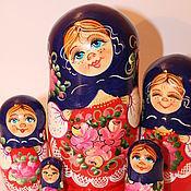 Русский стиль ручной работы. Ярмарка Мастеров - ручная работа Матрешка Аленушка 2    5 мест. Handmade.