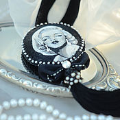 Украшения ручной работы. Ярмарка Мастеров - ручная работа брошь-кулон Marilyn. Handmade.