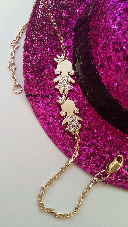 Золотой браслет девочка принцесса для мамы дети