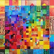 """Картины и панно ручной работы. Ярмарка Мастеров - ручная работа картина """"Полихромный квадрат""""(серия из 12 картин для интерьера ). Handmade."""