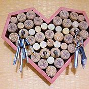 Для дома и интерьера handmade. Livemaster - original item Wall-mounted key holder, cork organizer. Handmade.
