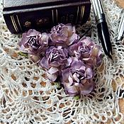 Цветы искусственные ручной работы. Ярмарка Мастеров - ручная работа Цветы розы сиреневые 5 шт. Handmade.