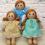 Куклы и игрушки ручной работы. Ярмарка Мастеров - ручная работа Мягкая игрушка - кукла с крылышками. Handmade.