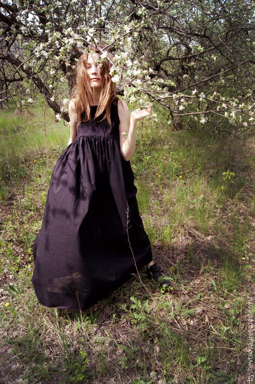 Платья ручной работы. Ярмарка Мастеров - ручная работа. Купить платье длинное 020byshevtsova. Handmade. Черный, женственность, платье для беременных
