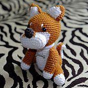 Мягкие игрушки ручной работы. Ярмарка Мастеров - ручная работа Собачка Акита. Handmade.