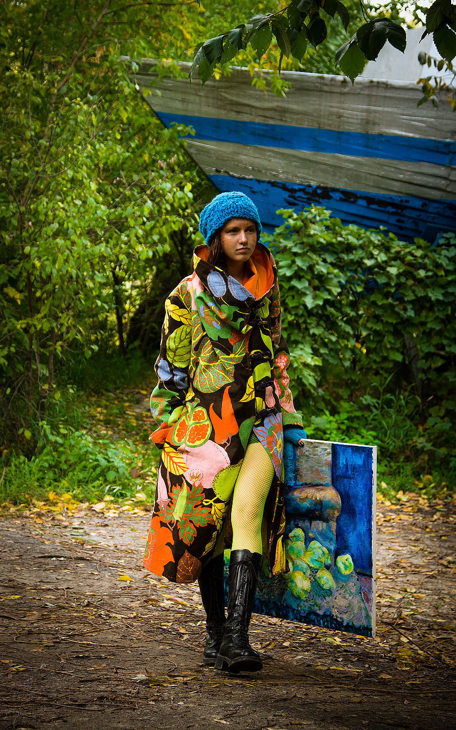 Light Cotton Coat with Tropic Fruits Print, Coats, Rostov-on-Don, Фото №1