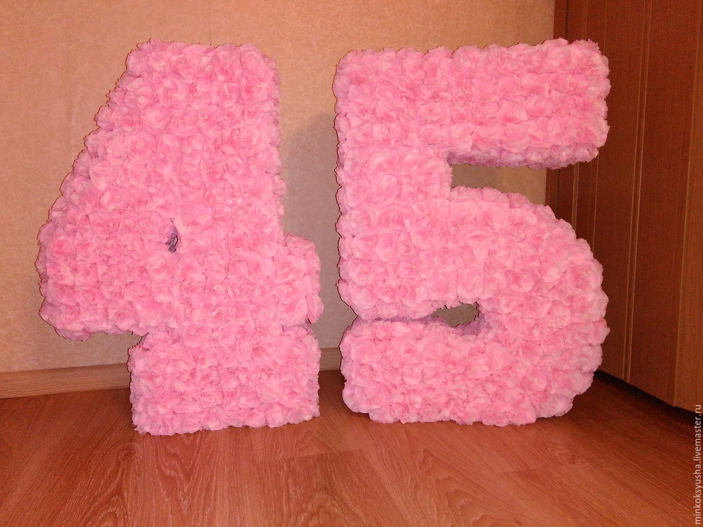 Как сделать цифру на день рождения своими руками 86