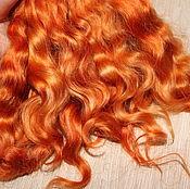 Материалы для творчества handmade. Livemaster - original item Hair for dolls short (cognac) Curls for dolls. Handmade.