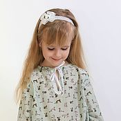 Работы для детей, handmade. Livemaster - original item Tunic for girls from Batista bought